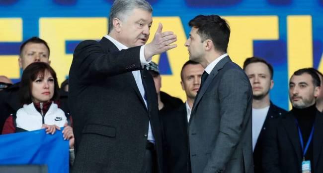 Политтехнолог: Для Зеленского было бы просто идеально, если бы Порошенко ушел из политики, или вовсе уехал из Украины