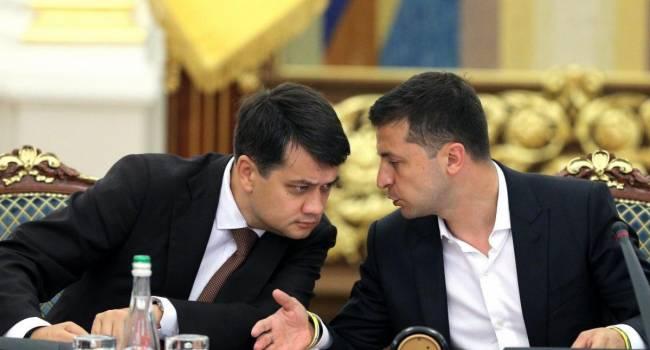 Политолог: Олигархи уже готовят Разумкова в качестве замены потерявшему адекватность и рейтинг Зеленскому