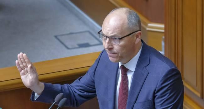 Парубий: Я призываю украинцев использовать все предусмотренные Конституцией и законодательством методы, чтобы отстранить от  власти Зеленского и его команду