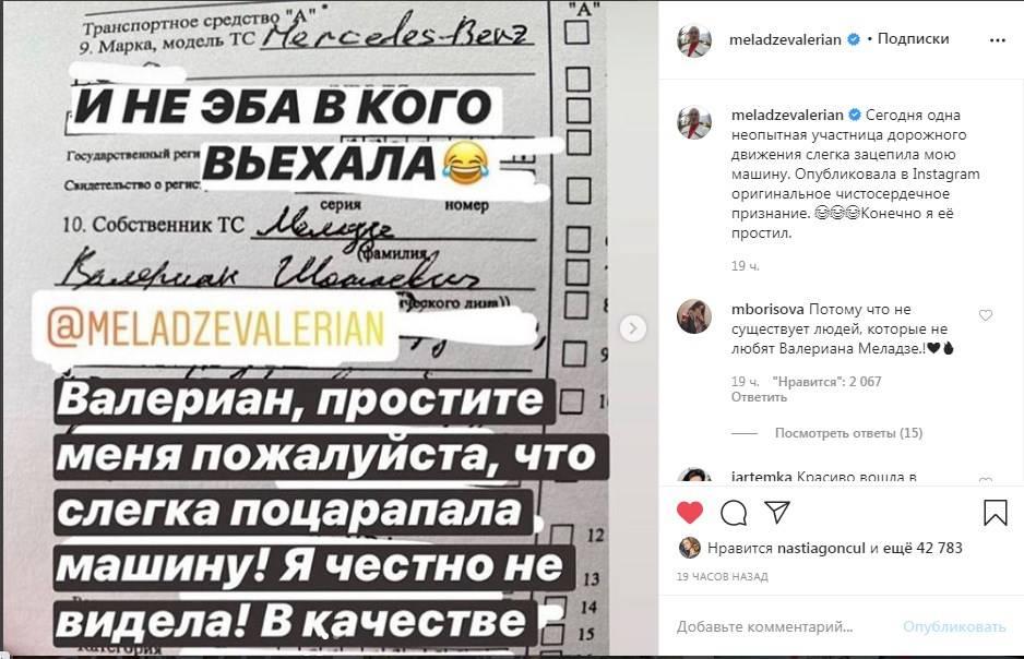 «В качестве извинений я скачаю все ваши песни»: Меладзе обнародовал переписку с поклонницей, которая поцарапала его дорогую машину