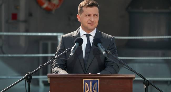 В Одессе президент Зеленский забыл, что у нас единственный государственный язык украинский