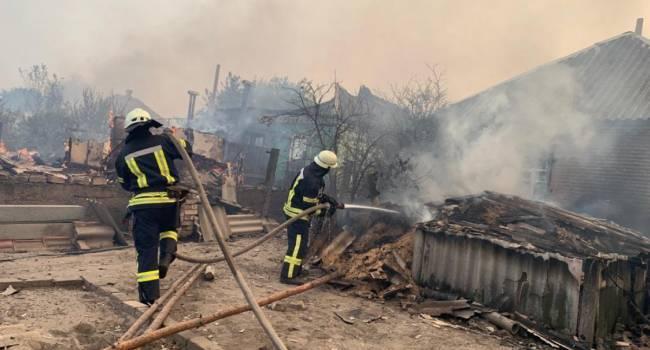 «Это самоубийство!»: Боевики «ЛНР» не дают возможности тушить пожар при помощи авиации