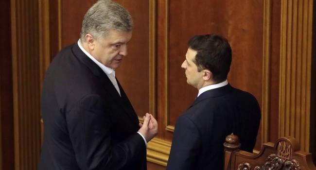 Омелян: Такое ощущение, будто Зеленский боится, что Порошенко вот-вот вернется