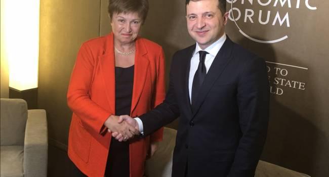 Кристалина Георгиева в разговоре с Зеленским похвалила реформу Порошенко и напомнила о независимости Нацбанка