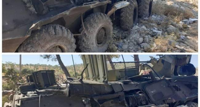 «Броня в смятку»: Ресурсы показали последствия атаки на военных РФ в Сирии