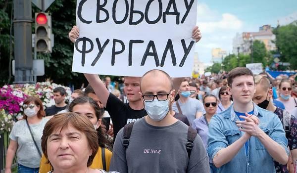 Жители Хабаровска четвертую неделю не прекращают протесты против ареста бывшего губернатора