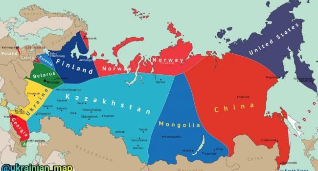 «Распад России: не останется и клочка земли»: Украине перепадет лакомый кусочек российских земель