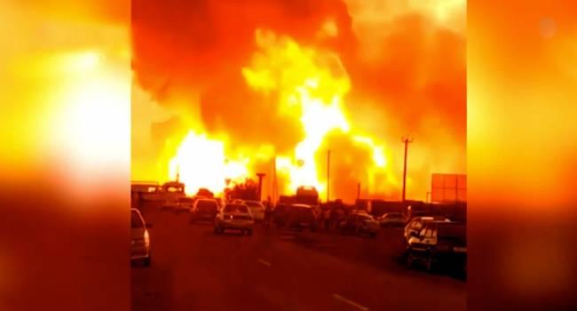 «Напомнило о Бейруте. Огни пламени и гриб»: В Краснодарском крае в воздух взлетела газовая заправка