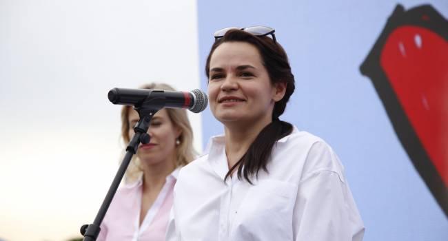 Тихановская заявила, что она пас – на улице с протестами ее не увидите