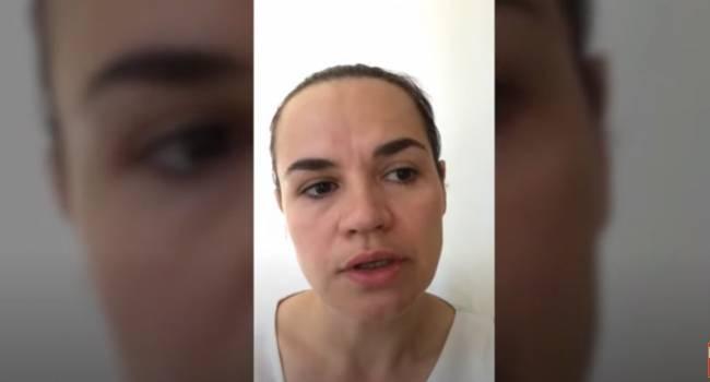 «Я так и осталась той слабой женщиной, которой была изначально»: Тихановская записала видеообращение после побега с Беларуси