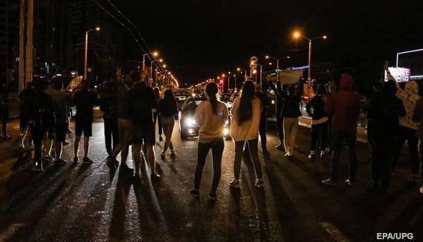 В ходе последних ночных протестов в Минске не было жесткого противостояния