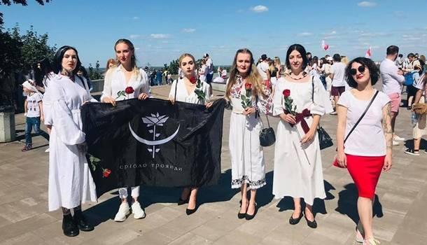 В Киеве состоялась акция солидарности с белорусами