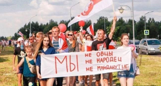 Журналист: поговорим через год о Беларуси, а пока вот вам снимочек для тех, кто умеет критически мыслить