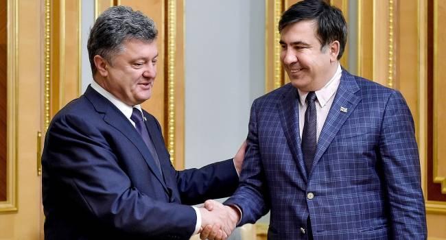 Политолог: Саакашвили помог в свое время Порошенко избавиться от Яценюка. Этот человек любит деньги, и никакими реформами он в действительности не занимается