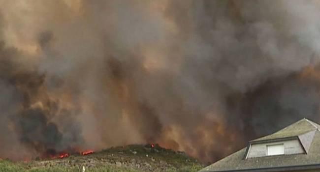 На военном полигоне в Киевской области произошел масштабный пожар