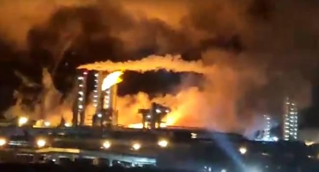 «Водородный взрыв»: Завод «Азот» в Новомосковске взорвался, начался сильный пожар
