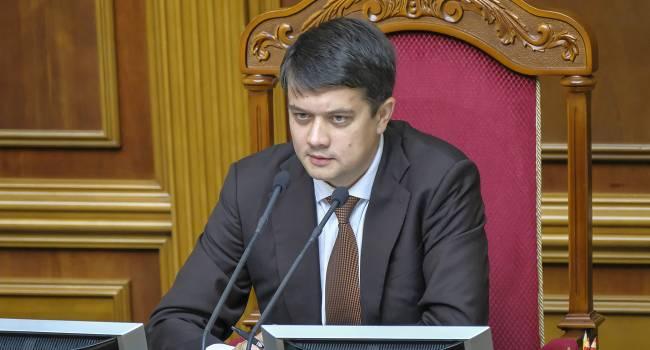 Разумков ответил на требование РФ внести изменения в постановление ВРУ о выборах