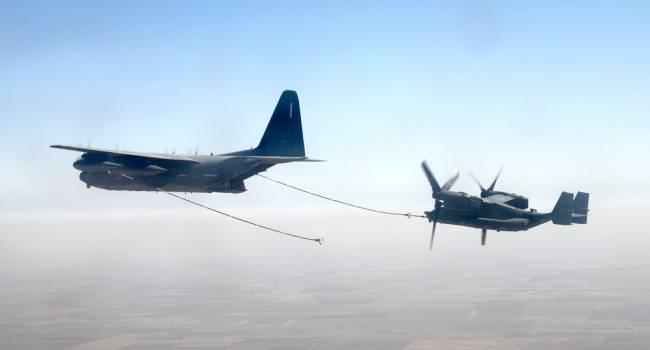 Конвертоплаты США осуществили дозаправку в небе над Одесской областью