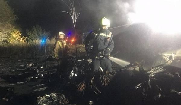 Представители ГСЧС завершили работать на месте катастрофы самолета под Харьковом