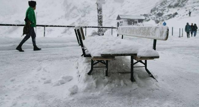 Сентябрьская аномалия: в Австрии и Швейцарии выпал снег