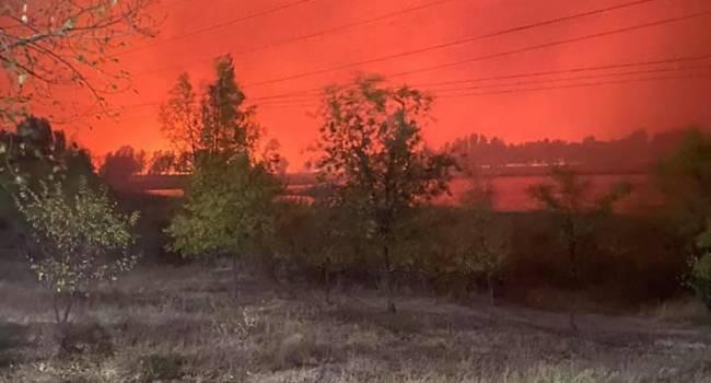 На Луганщине чудовищные по масштабам пожары