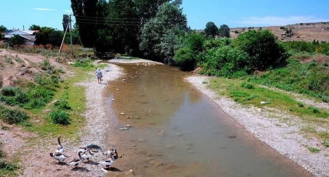 «От неё ничего не осталось»: в Крыму полностью пересохла река, подпитывающая крупнейшее водохранилище