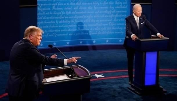 Названо имя победителя дебатов Трампа и Байдена