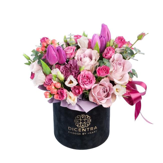 Цветы в шляпной коробке — повод для роскошного подарка!
