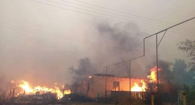 Журналист: реакция власти на пожары на Луганщине – яркое свидетельство, как они на самом деле относятся к прифронтовой территории