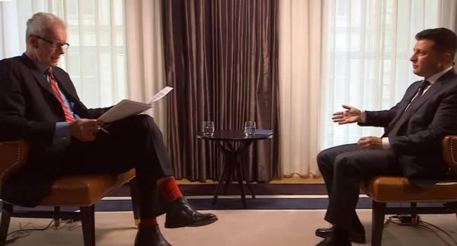 Яхно: Недавнее интервью Зеленского показало его неготовность общаться с нелояльными западными журналистами