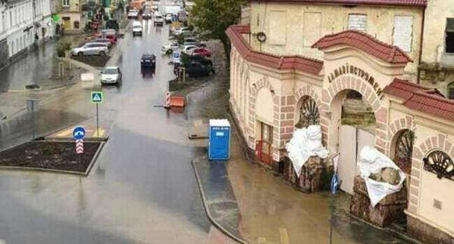 200 миллионов гривен львовян, как в трубу: одна из центральных улиц Львова после ремонта превратилась в болото