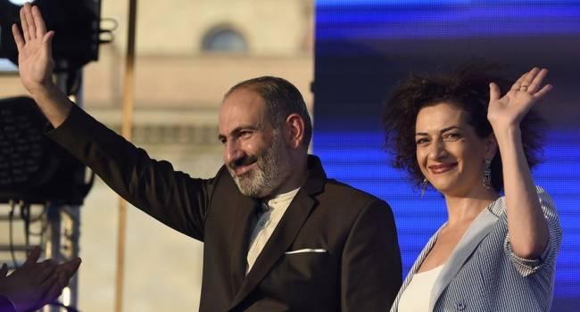 Жена Пашиняна отправляется на войну защищать Карабах