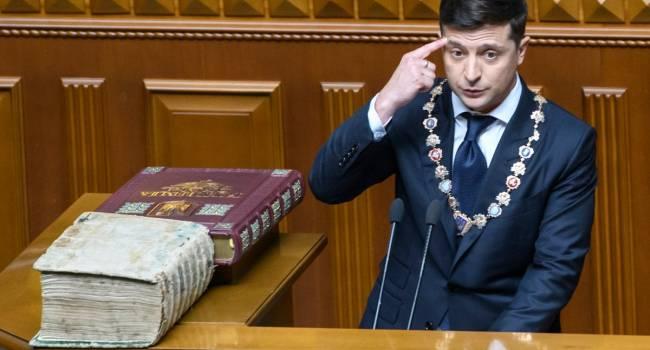 Политолог: есть инсайд – Зеленский отзовет свой «законопроект» о роспуске Конституционного суда – в Раде нет голосов