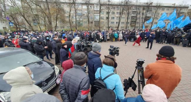Политолог: сегодня украинцы наблюдали российское мракобесие под посольством США в Киеве