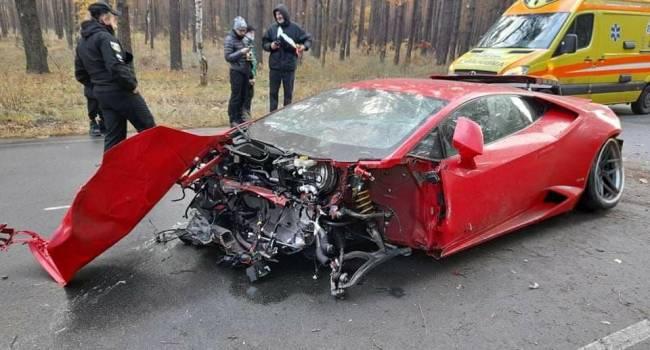 Во время съемок фильма под Киевом киношники разбили элитный Lamborghini