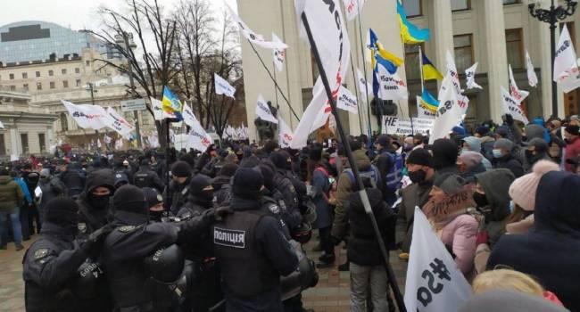 «ФОПы выставили свои требования»: Ситуация под стенами Верховной Рады накаляется. Кадры