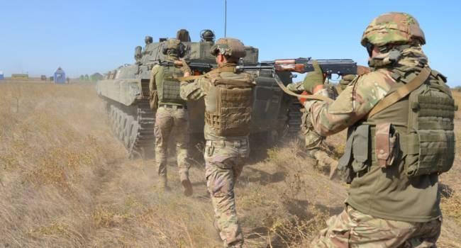 Бойцы ООС открыли шквальный огонь по российским военным. Военные Путина бежали, что есть силы
