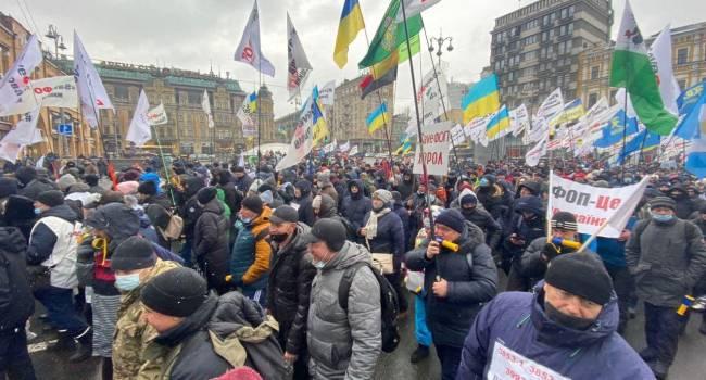 Телеведущая: у меня один вопрос – почему власть Зеленского так не любит ФЛП и считает, что имеет право уничтожать средний класс?