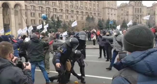 Политолог: на Майдан возвращаются времена Януковича. Президент Зеленский и его режим перешли границу, скорые забирают людей