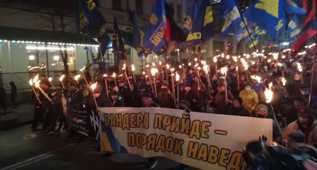 Все детали факельного шествия в Киеве в честь Бандеры: фото и видео с марша