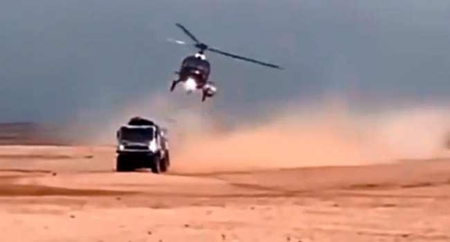 «КАМАЗ» столкнулся с летящим вертолетом»: Гонки «Дакар» могли завершиться трагедией для россиян