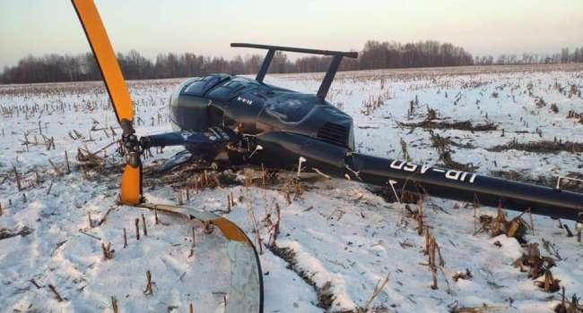 «Пытался совершить посадку, но увы…»: Недалеко от Киева разбился вертолет