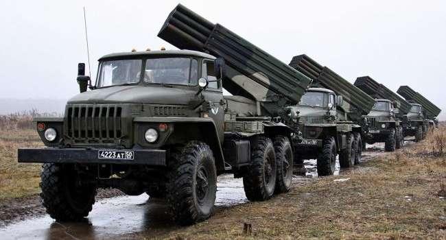 «Вторжение таки будет?»: В СЦКК зафиксировали десятки «Градов» и танков боевиков с нарушением линии отвода
