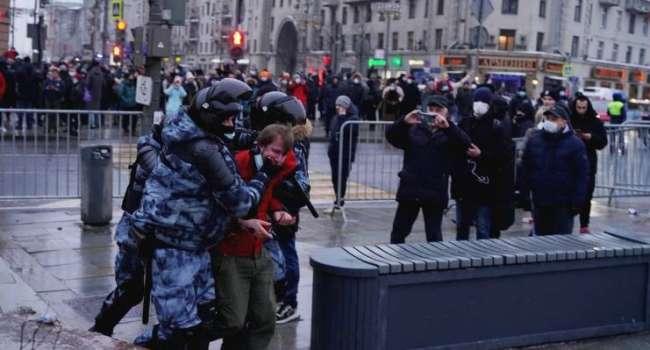 «Жесткие посадки активистов»: Ксения Собчак прокомментировала акции в поддержку Навального в России