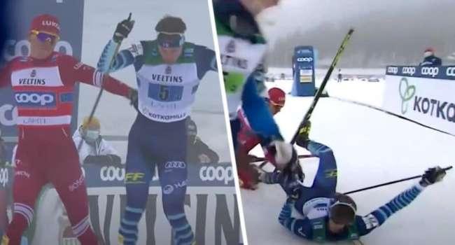 Российская сборная по лыжным гонкам дисквалифицирована с соревнований на Кубок Мира – причина – русские не умеют держать себя в руках