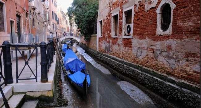 Потоп отменяется: каналы Венеции практически полностью обмелели