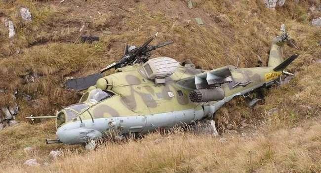 В Сирии «грохнулся» российский военный вертолет «Ми-35»