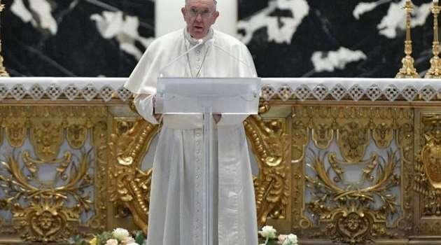Папа Франциск в своем Пасхальном поздравлении обмолвился об Украине
