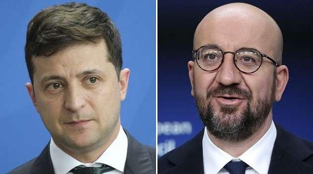 Зеленский и глава Евросовета обсудили обострение Россией ситуации на Донбассе