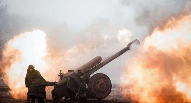 Боевики ударили по позициям ВСУ из артиллерии. Силы ООС открыли ответный огонь – кадры боя